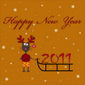 Free New Year Cat Stock Photo - 17449910