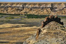 Free Badlands Formation And River Stock Images - 17440034
