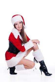 Santa Claus Girl Royalty Free Stock Photography