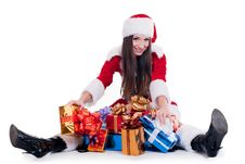 Free Santa Claus Girl Royalty Free Stock Images - 17440229