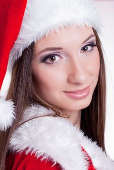 Free Santa Claus Girl Royalty Free Stock Photography - 17440237