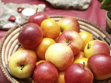 Free Apples And Mandarin Oranges Stock Photos - 17440563