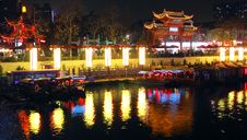 Free Qinhuai Riverside Royalty Free Stock Photos - 17440768