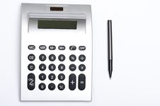 Free Calculator And Pen Stock Images - 17441064