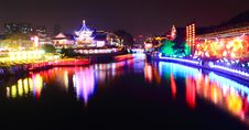 Free Qinhuai River At Night Stock Image - 17441081