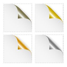 Free Set Of White Blank Stickers Royalty Free Stock Images - 17441609