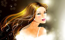 Free Vector  Girl Royalty Free Stock Photography - 17441737