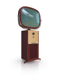 Red Retro TV Set. Stock Images