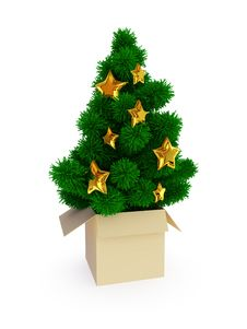 Free Christmas Tree Royalty Free Stock Photography - 17442897