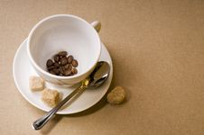 Free Coffee Cup With Bean Stock Images - 17442964