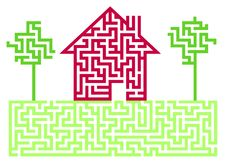 Free Residential House Labyrinth Stock Photos - 17443373