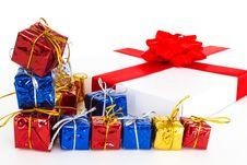 Free Set Of Gift Boxes Stock Photo - 17443430