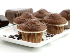 Free Fresh Baked Muffins Royalty Free Stock Photography - 17444027