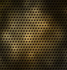 Free Metal Grid With Holes In The Form Of A Star Royalty Free Stock Photography - 17445537