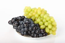 Free A Plate With Grapes Stock Images - 17445734
