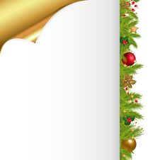 Free Christmas Background. Vector Royalty Free Stock Photography - 17446127