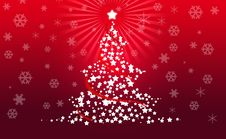 Free Christmas Tree On Red Background Stock Photography - 17446142
