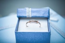 Free Gold Ring In The Box Stock Image - 17446611