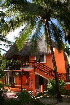 Free Palapa In Playa Del Carmen - Mexico Royalty Free Stock Image - 17448106