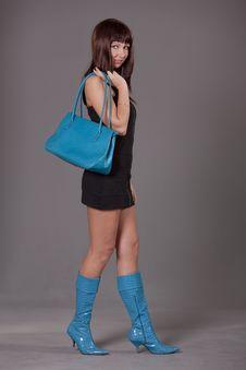 Free Fashion Woman With Bag Stock Photos - 17448163