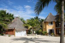 Free Palapa In Playa Del Carmen - Mexico Stock Photography - 17448192