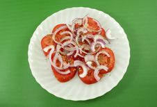 Free Tomato And Onion Salad Royalty Free Stock Photography - 17448197