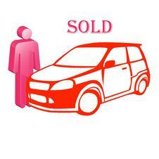 Free The Car Is Sold Royalty Free Stock Photo - 17448205