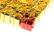 Festive Gift Boxes Stock Photo