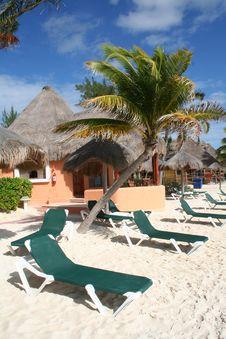 Free Palapa In Playa Del Carmen - Mexico Stock Photography - 17448232