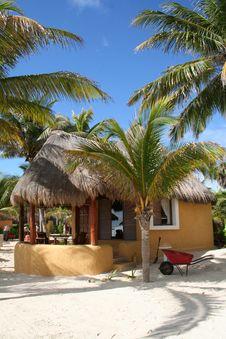 Free Palapa In Playa Del Carmen - Mexico Stock Photography - 17448262