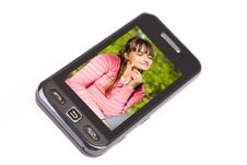 Touchscreen Mobile Phone Royalty Free Stock Photography