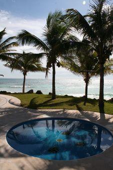 Free The Pool At Playa Del Carmen - Mexico Royalty Free Stock Photo - 17448435
