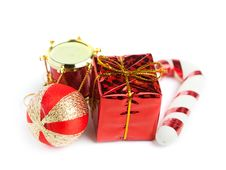 Free Festive Gift Box Stock Image - 17448521