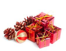 Free Festive Gift Boxes Stock Images - 17448534
