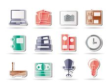 Free Business And Office Icons Stock Photo - 17448540