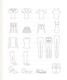Free Woman And Female Clothes Icons Stock Photos - 17448593