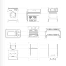 Free Home Electronics And Equipment Icons Royalty Free Stock Images - 17448599