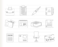 Free Business And Office Icons Stock Images - 17448604