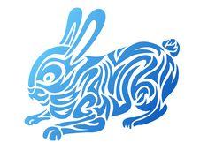 Free Stylized Rabbit Royalty Free Stock Photos - 17448708