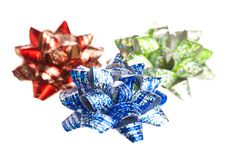 Free Bows Isolated On White Royalty Free Stock Photography - 17449257