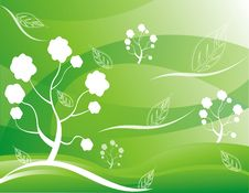 Free Abstract Tree  Illustration Green Stock Images - 17449474