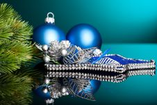 Christmas Tree With Festive Ball Royalty Free Stock Image