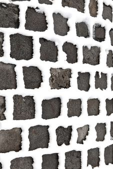 Free Detail Of Cobble Stone Paveway In Winter With Snow Royalty Free Stock Photo - 17449655