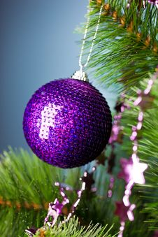 Christmas Tree With Festive Ball Stock Photography