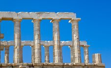 Poseidon Temple Near Athens, Greece Royalty Free Stock Image