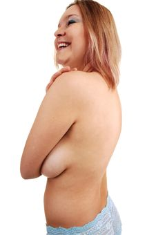 Free Topless Girl. Royalty Free Stock Photo - 17449925