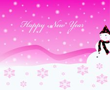 Free New Year Card Royalty Free Stock Photo - 17449985