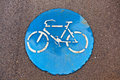 Free Symbol For Path And Bikelane Royalty Free Stock Photo - 17450085