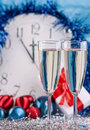Free Two Glasses With Wine Royalty Free Stock Photo - 17451625