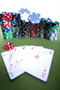 Free Red Dice And Cards Royalty Free Stock Images - 17453889